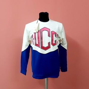 Gucci White and Blue Sweatshirt
